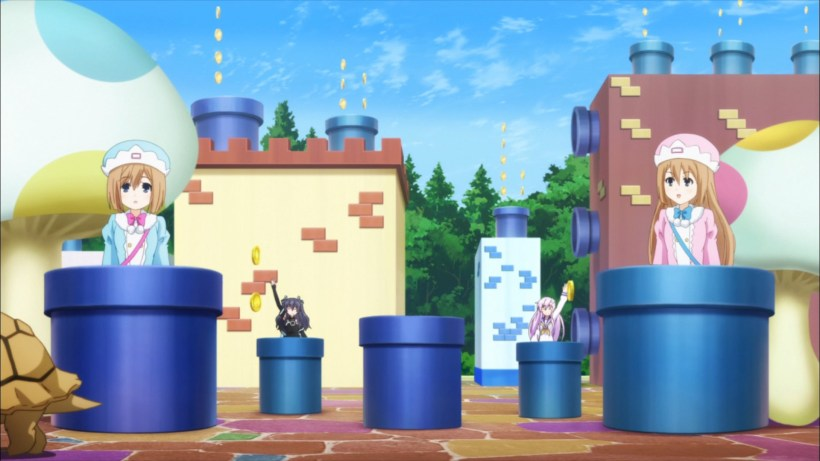 Pipes, Turtles, and Coins? Yep, we are in Lowee.